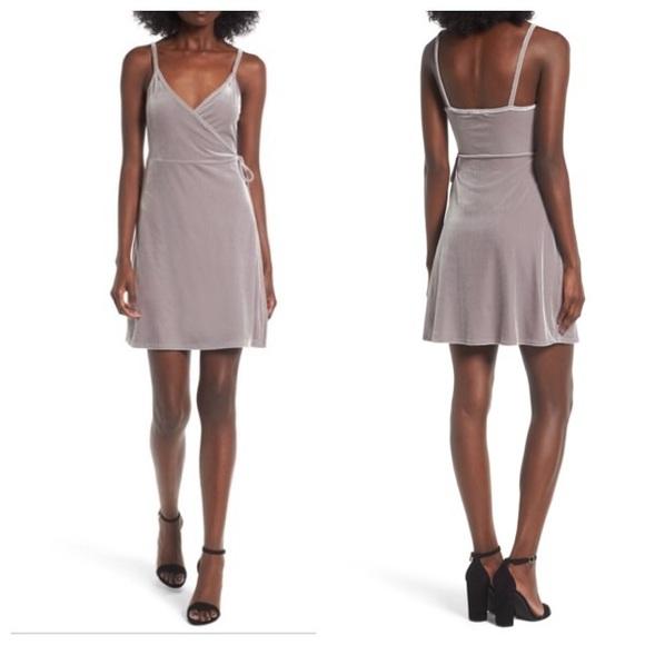 3356e72ff3 bp Dresses   Skirts - ⚡ SALE BP Crushed Velvet Plunge Wrap Dress Small